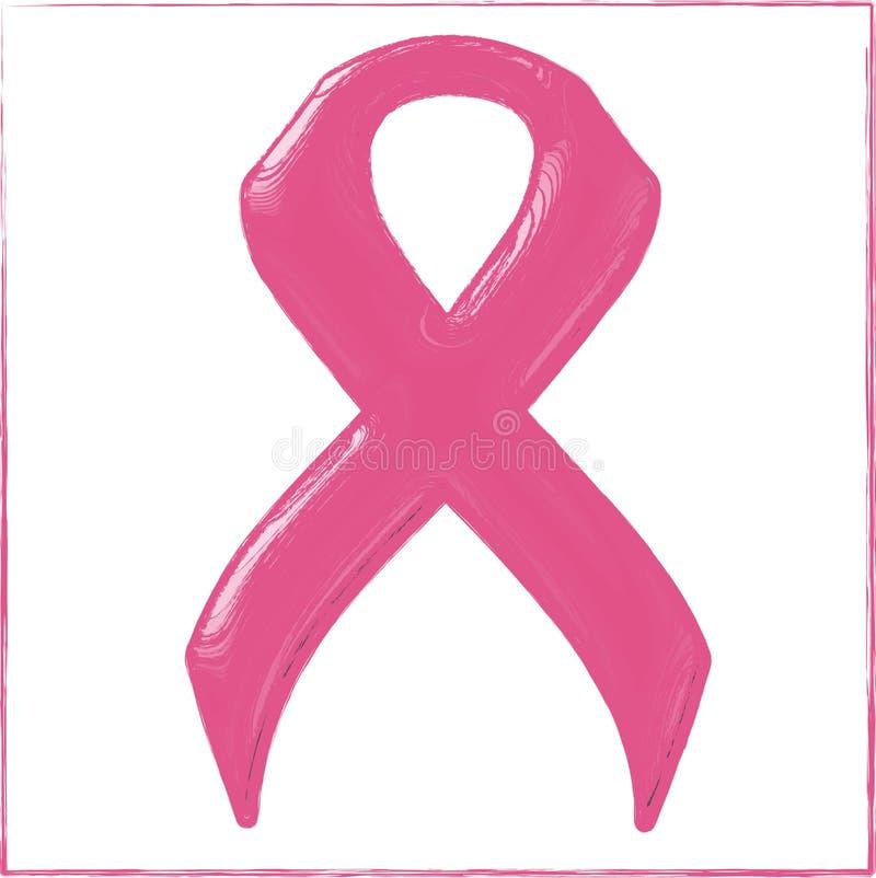 Nastro di rosa di consapevolezza del cancro al seno royalty illustrazione gratis