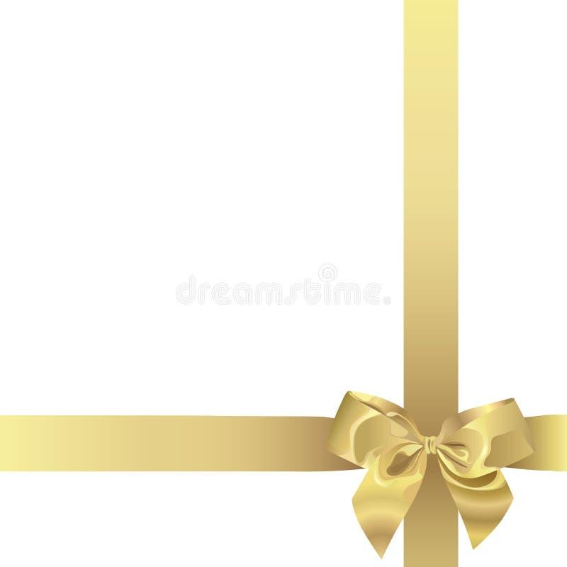 Nastro dorato (illustrazione) royalty illustrazione gratis
