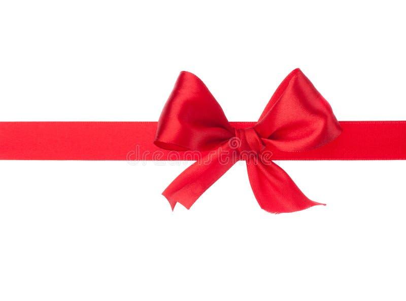 Nastro ed arco festivi del regalo fotografia stock