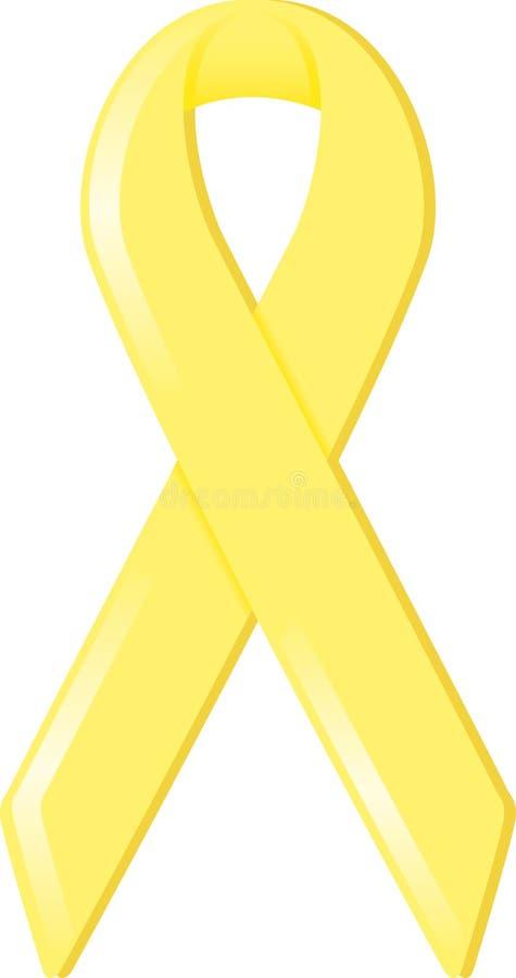 Nastro giallo di consapevolezza illustrazione vettoriale