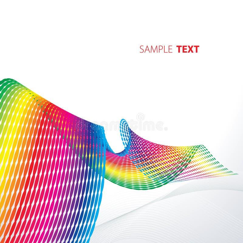 Nastro iridescent astratto illustrazione vettoriale