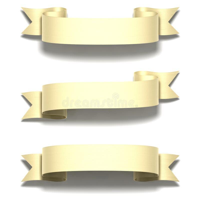 Nastro lucido dell'oro illustrazione di stock