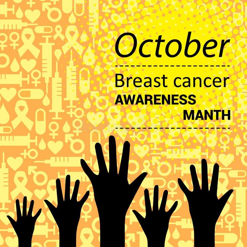 Nastro rosa, simbolo di consapevolezza del cancro al seno Illustrazione di vettore illustrazione vettoriale
