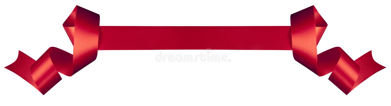 Nastro rosso fotografie stock libere da diritti