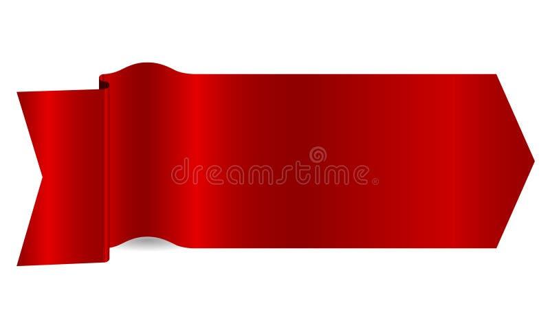 Nastro rosso fotografie stock