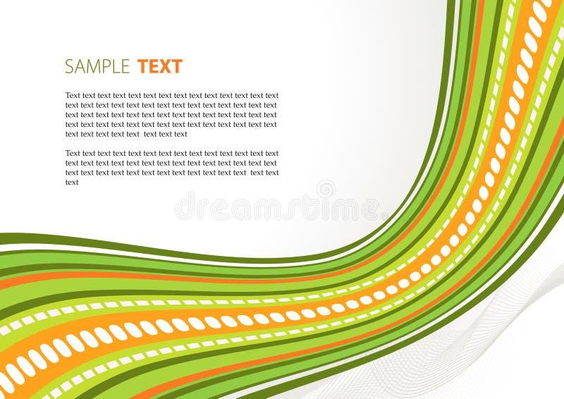 Nastro verde di techno illustrazione vettoriale