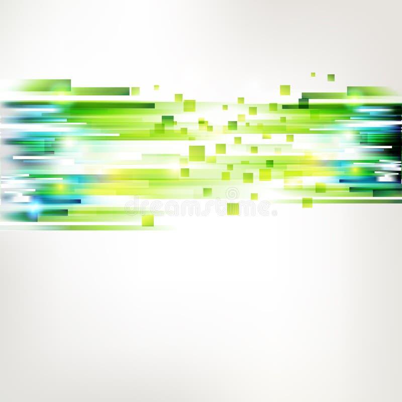 Nastro verde fresco astratto con gli sqares illustrazione di stock