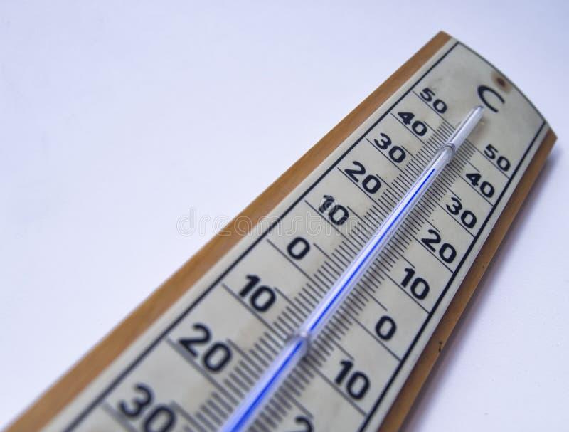 Nastrojowej temperatury pomiar rtęć termometrem zdjęcia royalty free