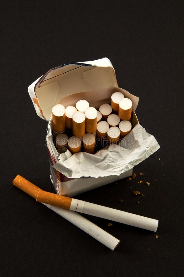 Download Nasty  Open Pack Cigarettes Stock Image - Image: 12115061
