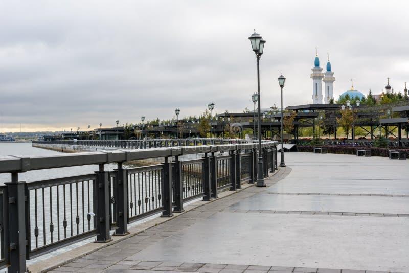 Nasyp Kremla w Kazaniu zdjęcia royalty free