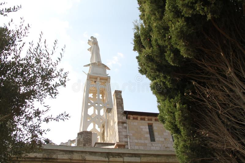 Nasz dama arka umowa kościół statua obrazy royalty free
