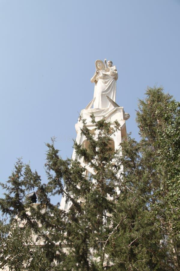 Nasz dama arka umowa kościół statua zdjęcia royalty free