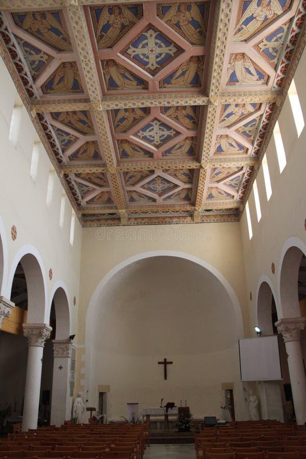 Nasz dama arka umowa kościół sufit zdjęcie royalty free