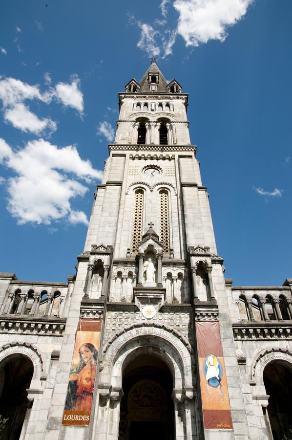 Nasz dama Lourdes sanktuarium bazylika obraz royalty free