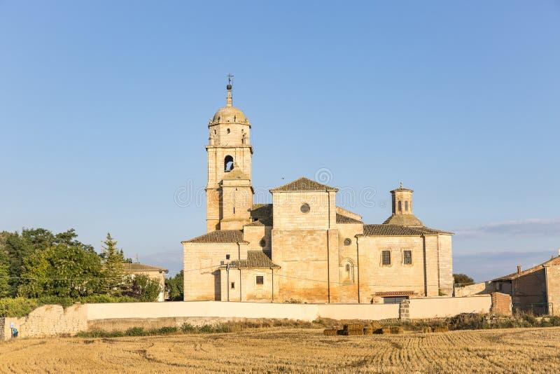 Nasz dama Manzano antyczny kościół w Castrojeriz obrazy royalty free