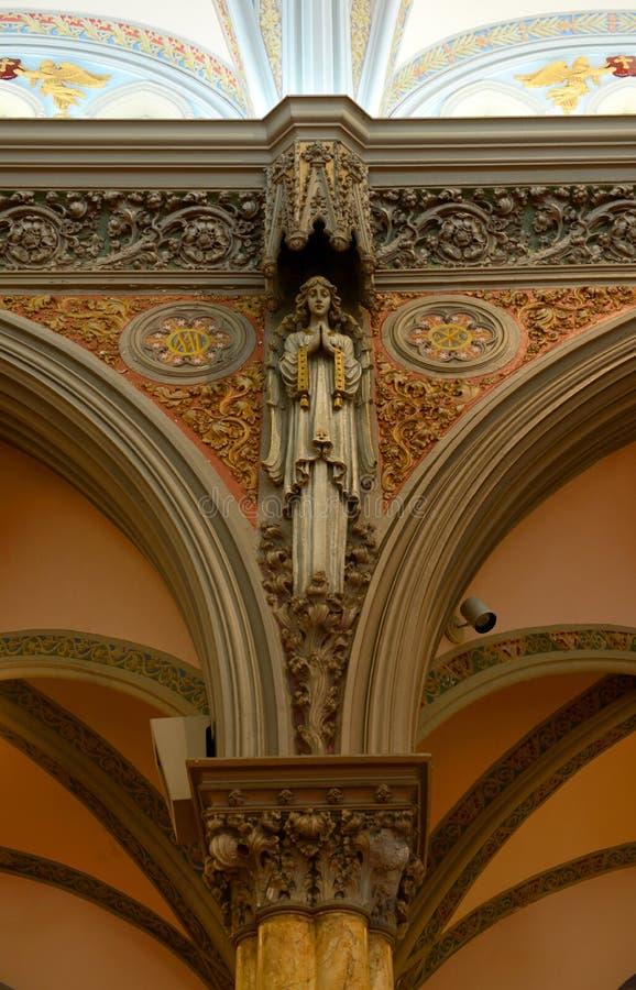 Nasz dama zwycięstwa kościół, Boston, usa zdjęcia royalty free