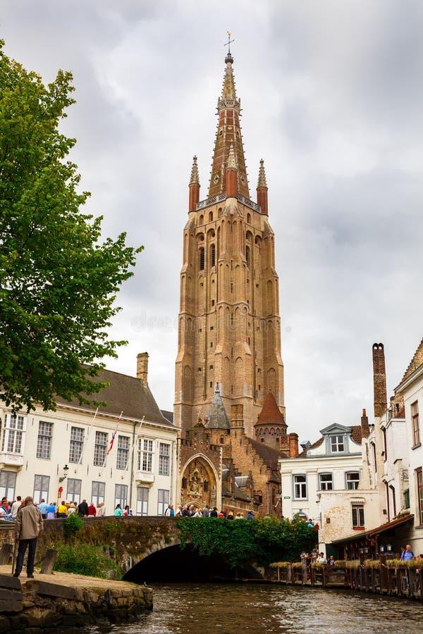 nasz kościelna Brugge dama obraz royalty free