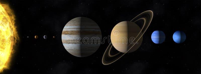 Nasz słońce system ilustracja wektor