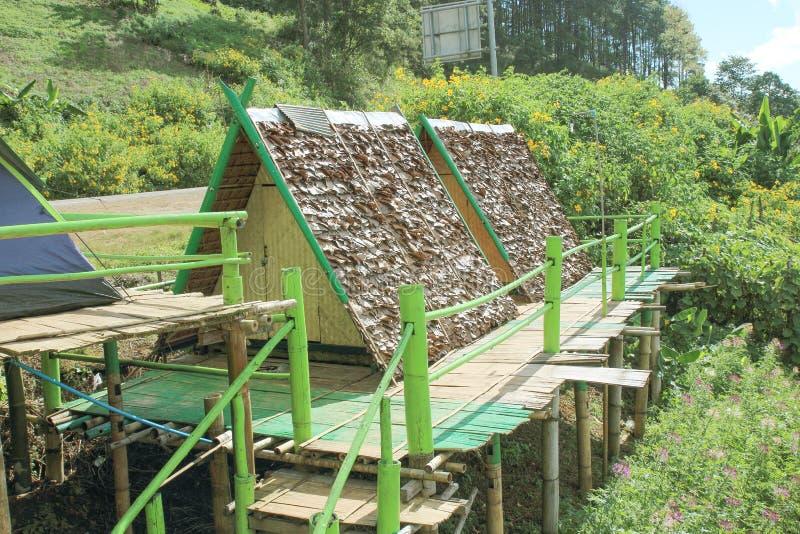 Natürliche Anziehungskräfte und Unterkunft in Mae Hong Son-Provinz in Thailand lizenzfreie stockfotos