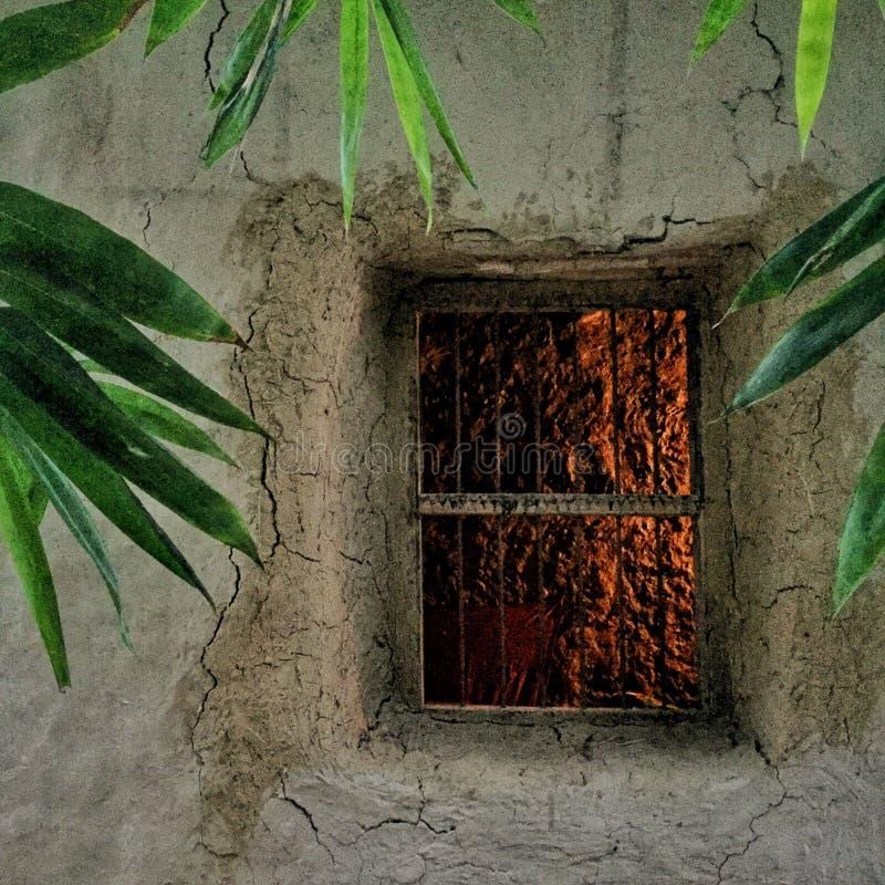 Natürliche Dekorationen des Schlammhauses sujanmap stockfotografie