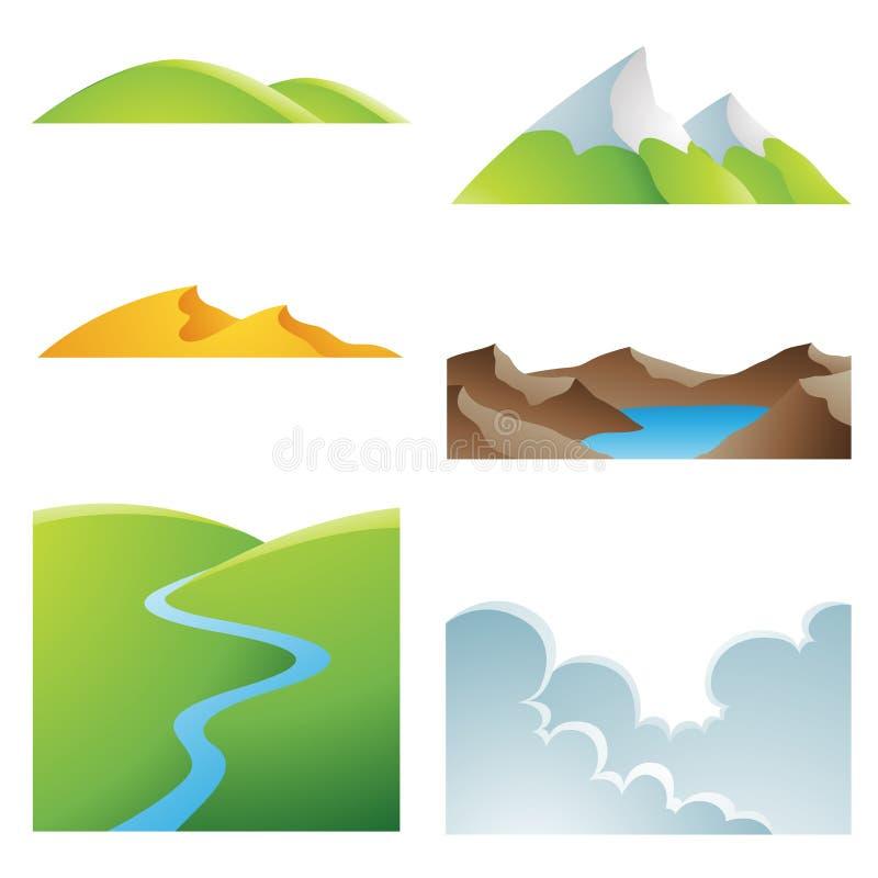 Natürliche Erde-Landschaften vektor abbildung