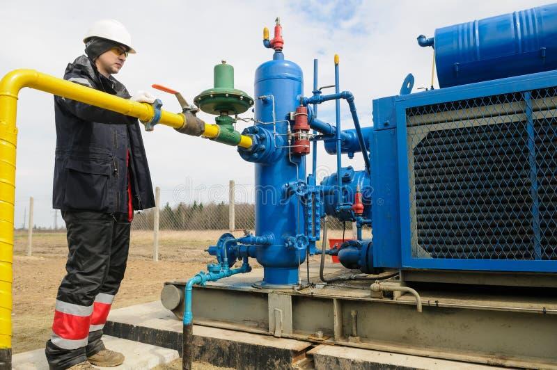 Natürliche Erdgasfeldstationsausrüstung stockfotos
