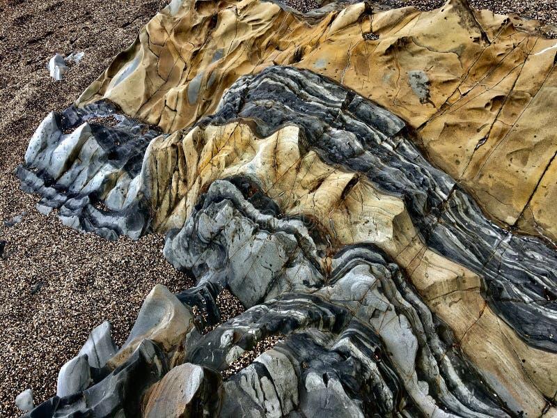 Natürliche Felsenfarben stockfoto