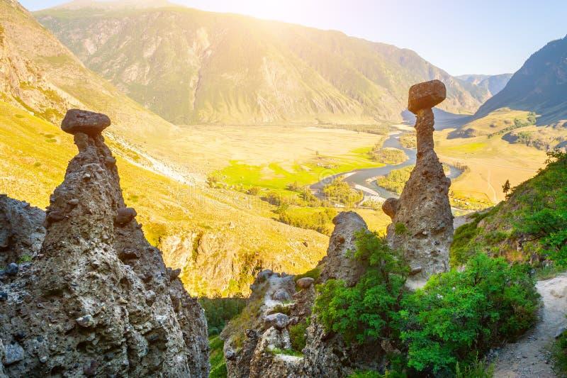 Natürliche Grenze Akkurum in Altai-Bergen, Sibirien, Russland stockfotografie