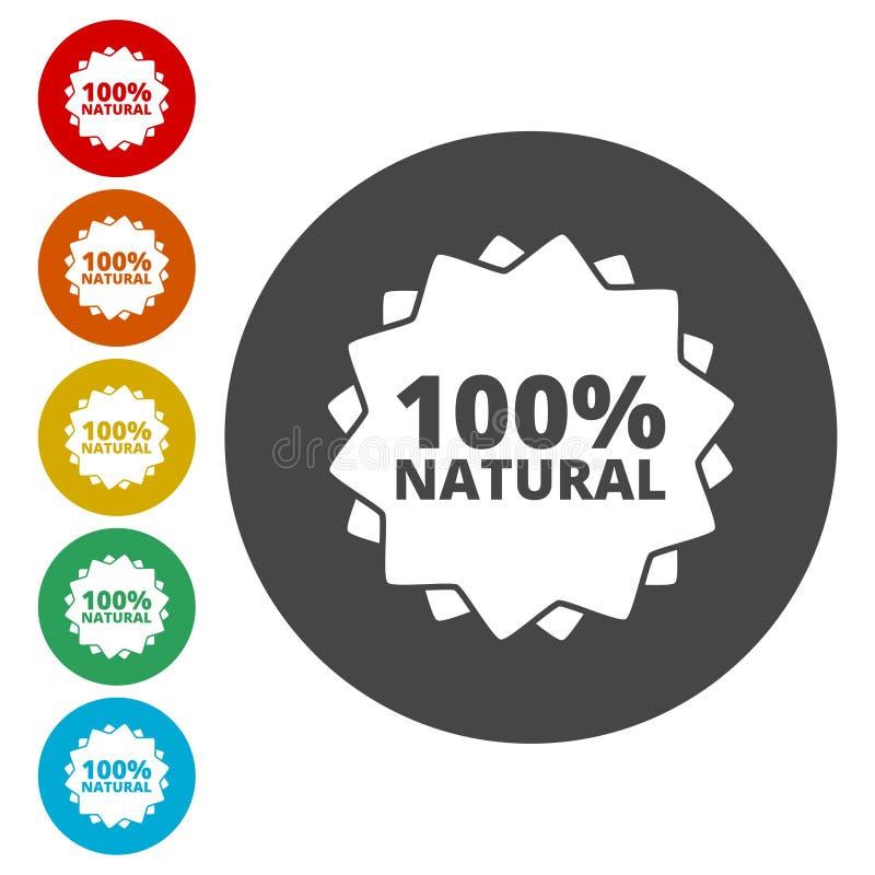 natürliche Ikone 100% stock abbildung