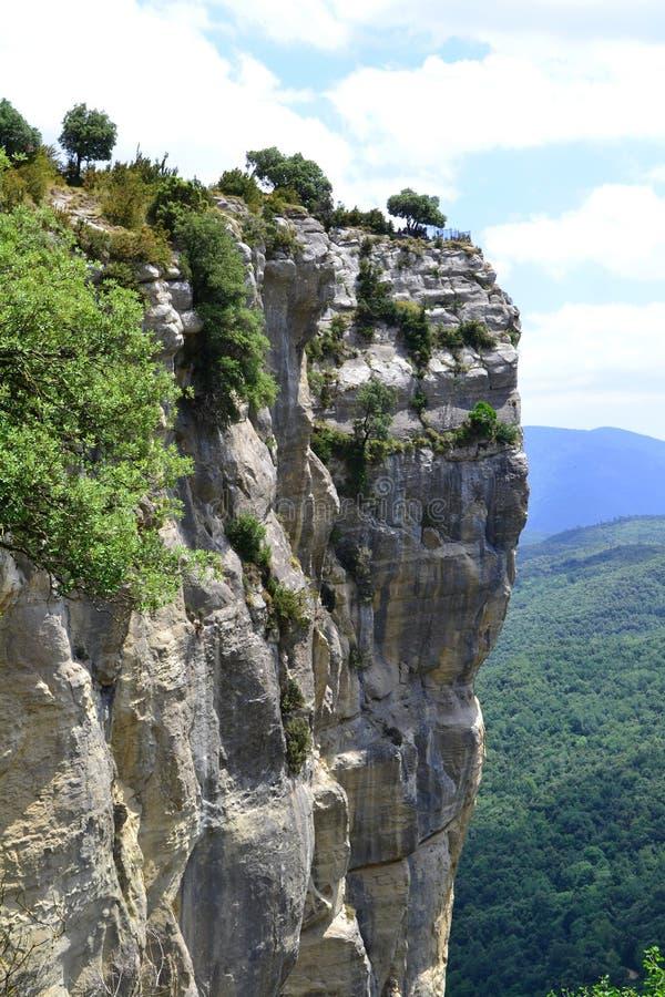 Natürliche Landschaft, Rupit, Spanien lizenzfreies stockfoto