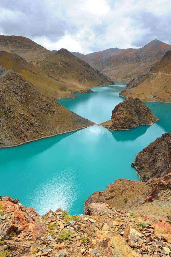 Natürliche Landschaft von Tibet lizenzfreies stockbild