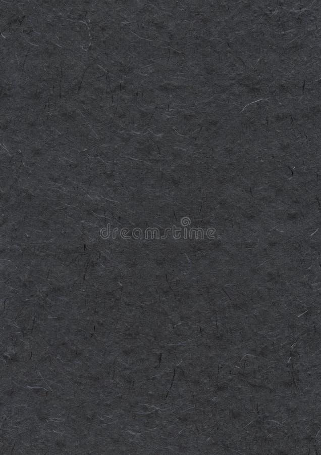 Natürliche Nepalese aufbereitete schwarze Papierbeschaffenheit lizenzfreie stockbilder