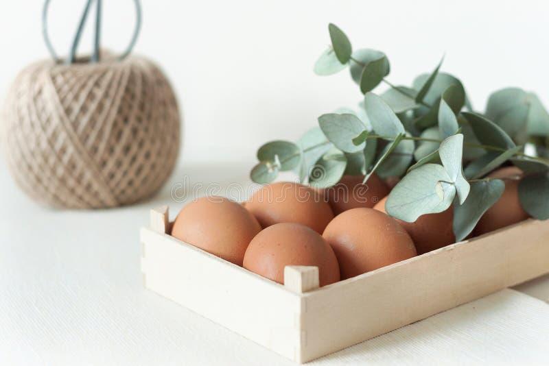Natürliche Ostern-Zusammensetzung w lizenzfreie stockbilder