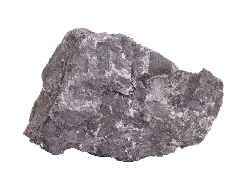 """Natürliche Probe von Graphit-†""""weich Mineral von der Klasse von gebürtigen Elementen, Änderung des Kohlenstoffs auf weißem Hint lizenzfreie stockfotos"""