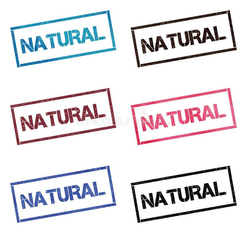 Natürliche rechteckige Briefmarkensammlung stock abbildung