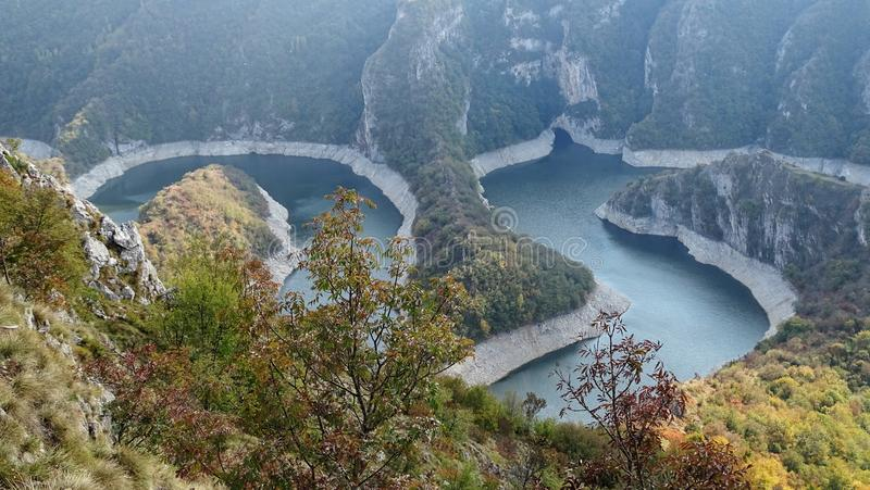 Natürliche Reserve Uvac stockfotos