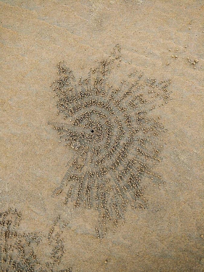 Natürliche Sandkunst stockbild