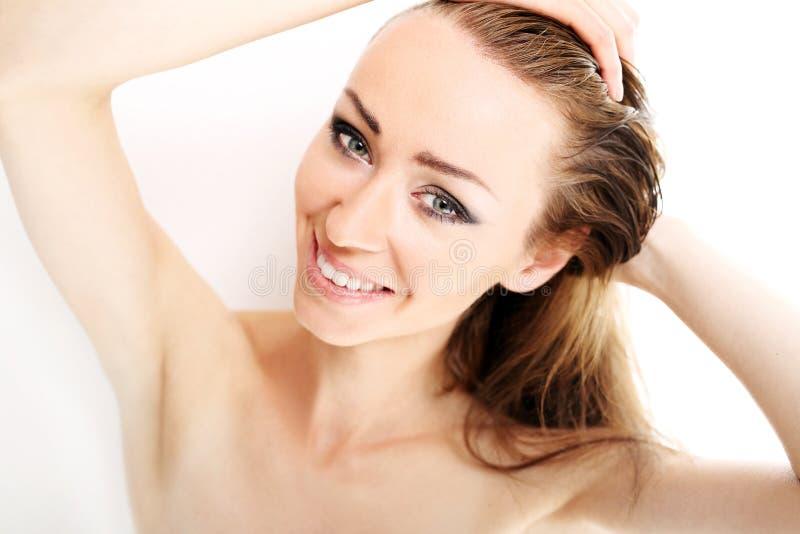 Natürliche Schönheitsfrauen lizenzfreie stockbilder