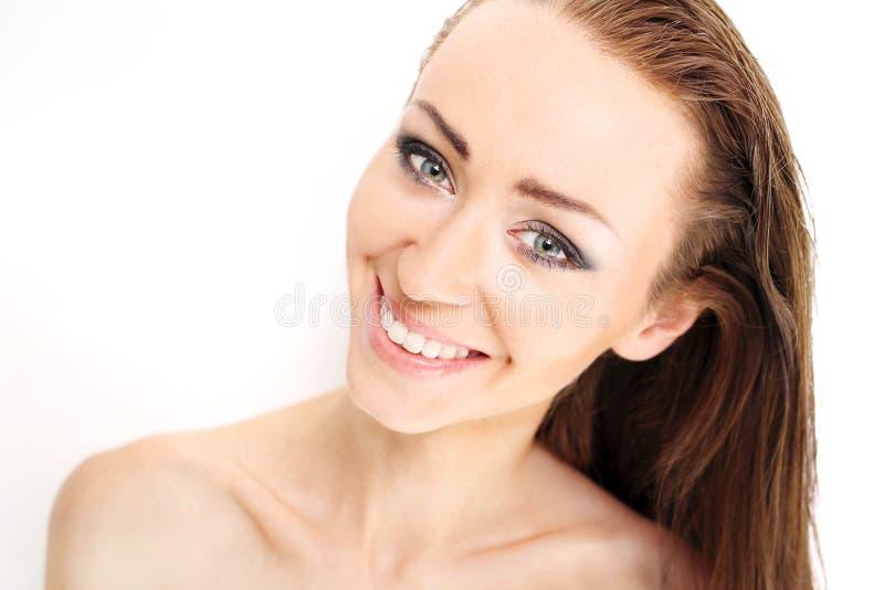 Natürliche Schönheitsfrauen stockfoto