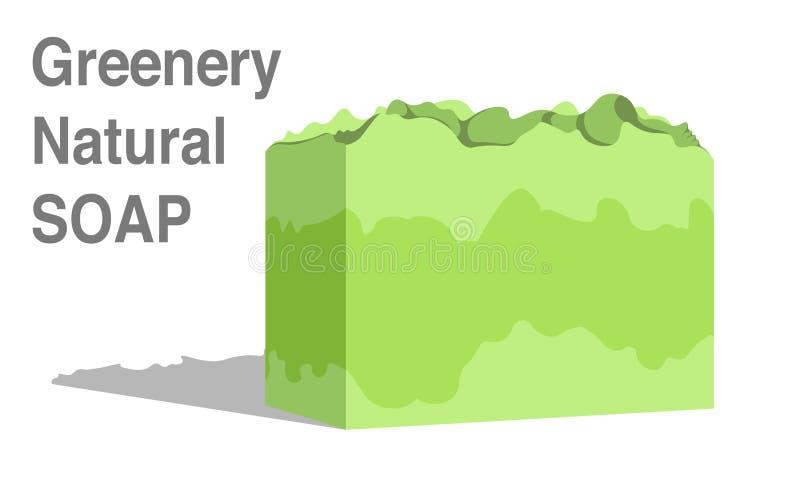 Natürliche Seifenikone lizenzfreie stockbilder
