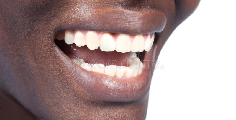 Natürliche Zähne lizenzfreie stockfotografie