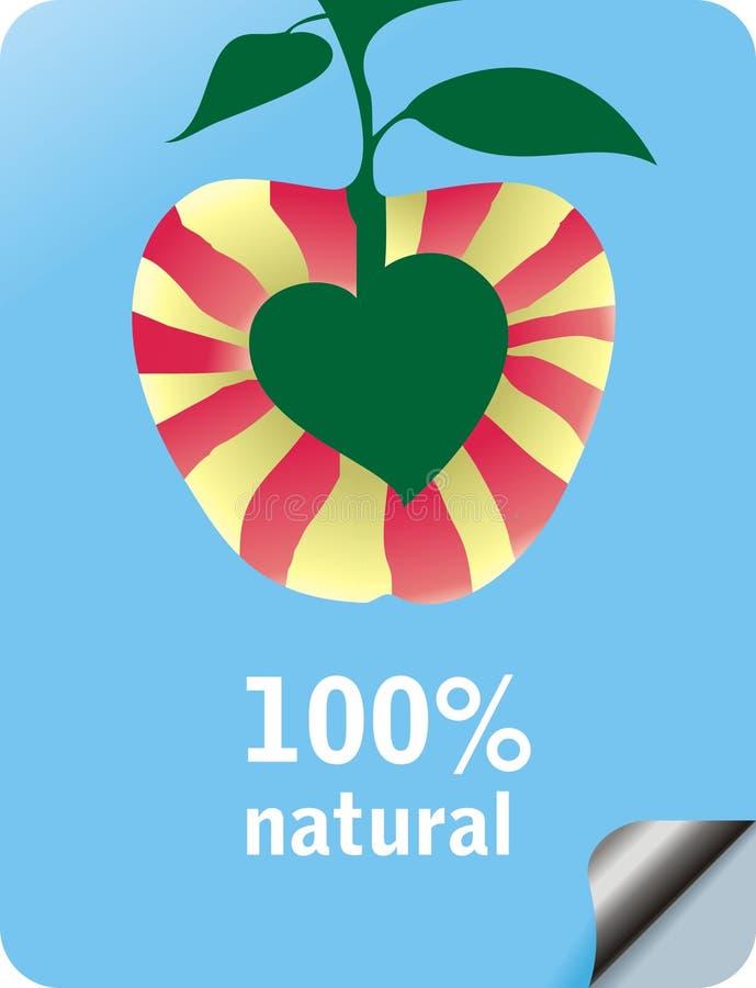 Natürlicher Apfel stock abbildung