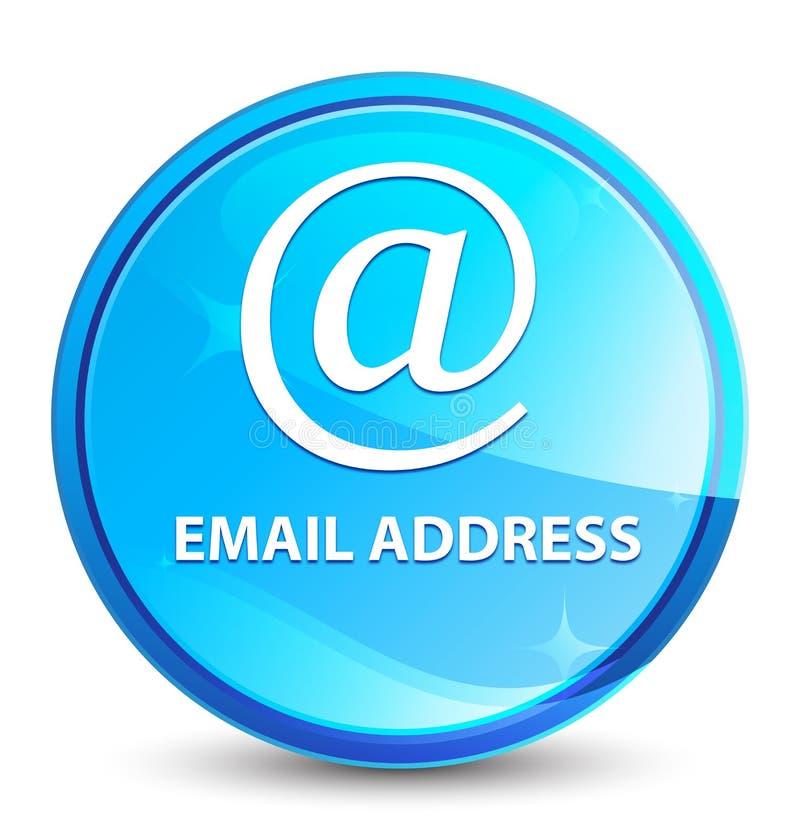 Natürlicher blauer runder Knopf E-Mail-Adresse Spritzens lizenzfreie abbildung
