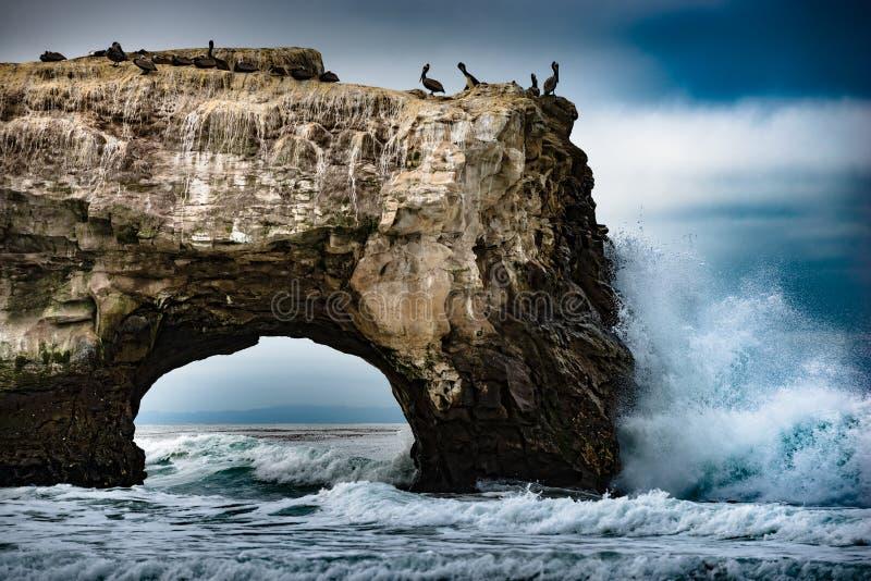 Natürlicher Brücken-Zustand-Strand stockbild