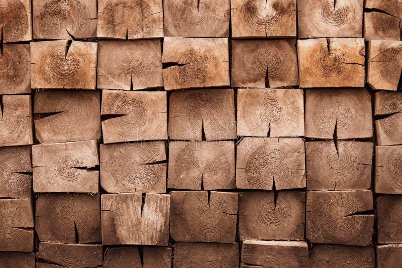 Natürlicher Holzboden Vierkantholzfläche Vintage-Holzmuster, Wandstruktur Dunkles verwittertes Hartholz, antikes Brett, Umarmung stockbild