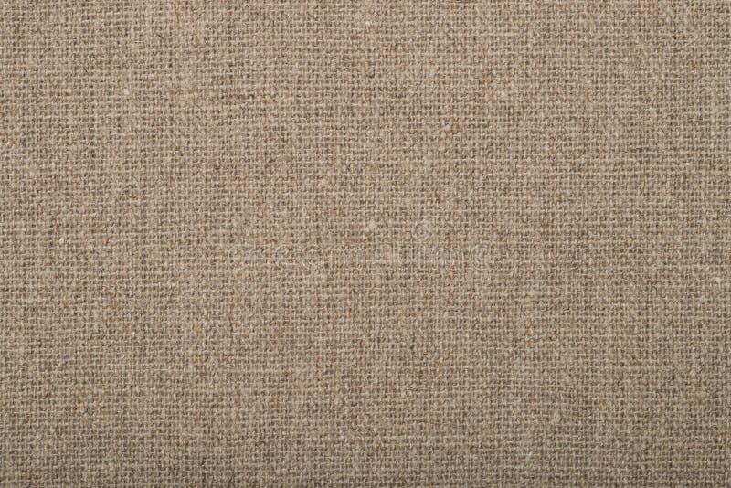 Natürliches Gewebe-Sackleinen-Hintergrund-Brown-Farbe lizenzfreies stockfoto
