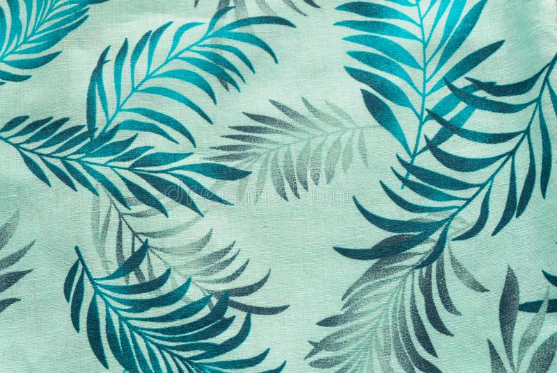 Natürliches Leinengewebe mit Blumenverzierung Abstrakter strukturierter Hintergrund lizenzfreies stockbild