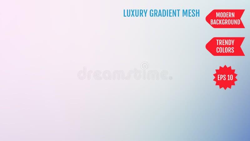 Natürliches Rosa und blauer Maschensteigungshintergrund Glatte moderne Farben mit Licht Modisches Konzept für Ihr Grafikdesign, F stock abbildung