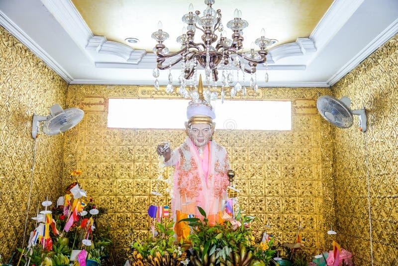 nat博博Gyi在仰光,缅甸Botahtaung塔  nat博博Gyi传统上提到叫的保护神的名字 免版税库存照片