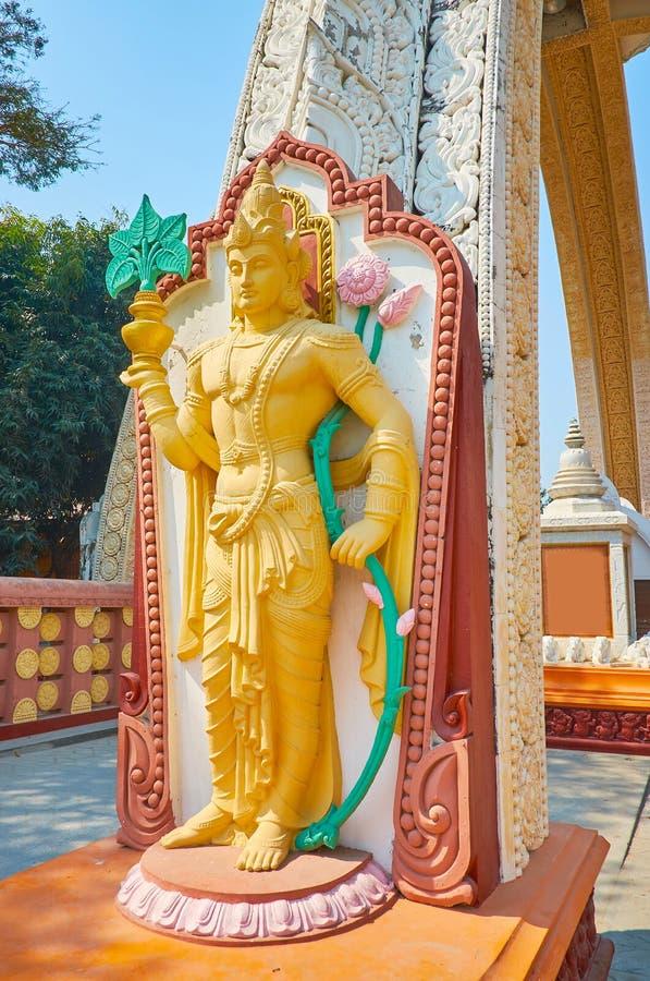 nat精神神,Sitagu国际佛教学院,实皆,缅甸雕象  库存照片